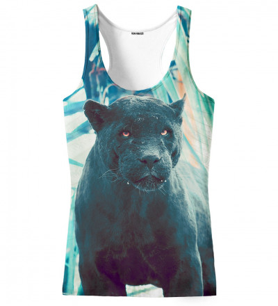 tank top with black cougar motive