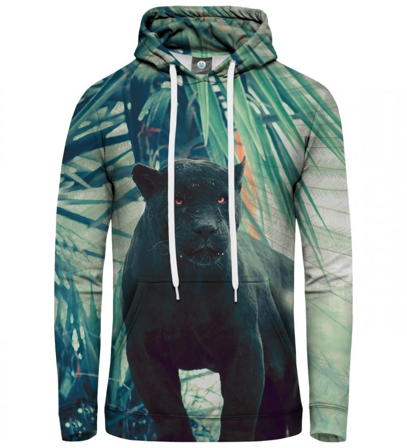 hoodie with black cougar motive