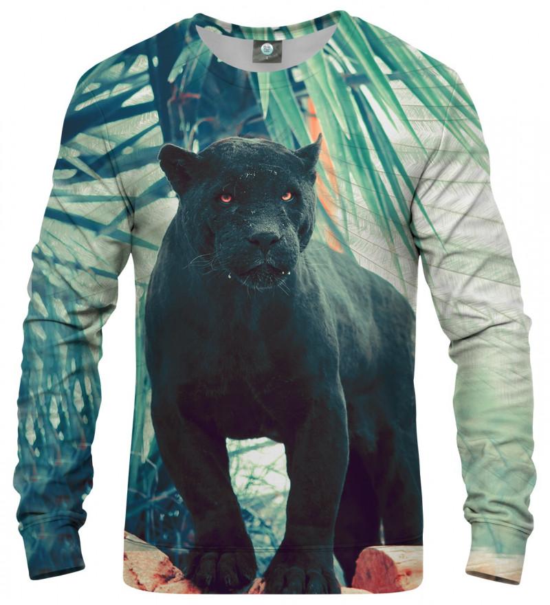 sweatshirt with black cougar motive