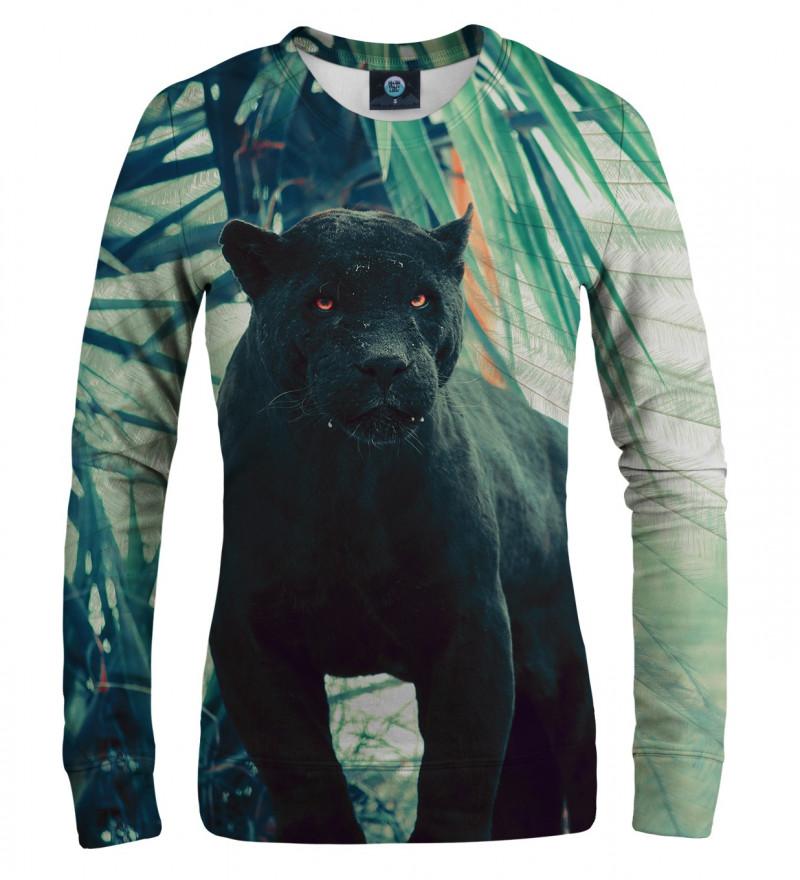damska bluza z motywem czarnej pumy