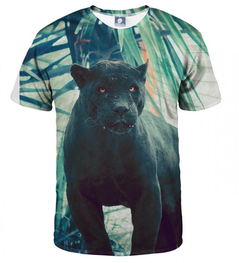 tshirt with black cougar motive