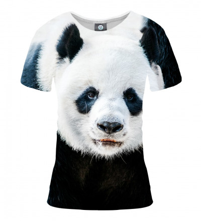 women tshirt with panda motive