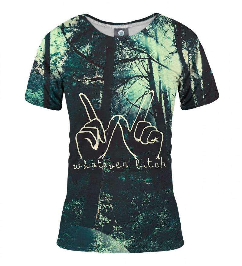 damska koszulka z napisem whatever bitch