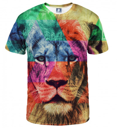tshirt with colorful lion motive