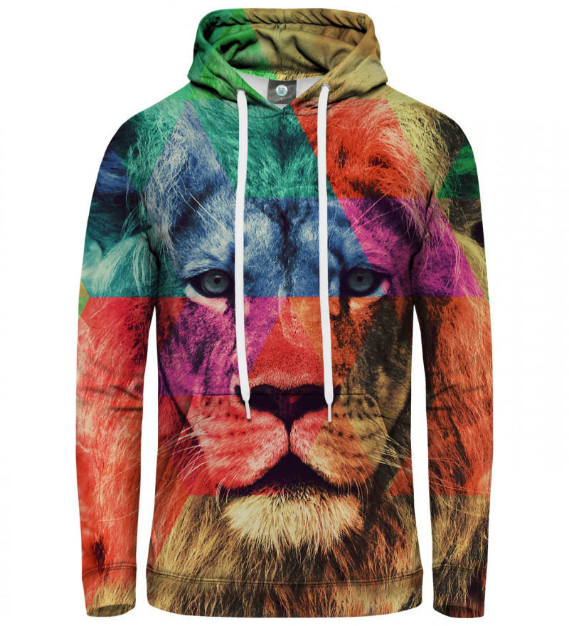 hoodie with coorful lion motive