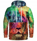 hoodie with colorful lion motive