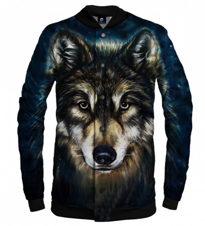 baseballl jacket with wolf motive