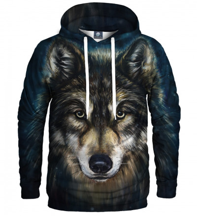 hoodie with wolf motive