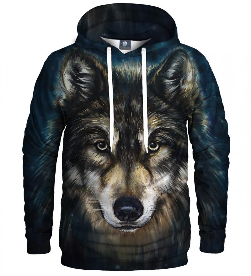 bluza z kapturem z motywem wilka