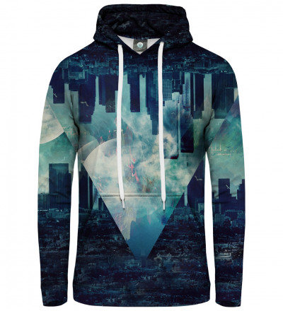 blue hoodie with city motive