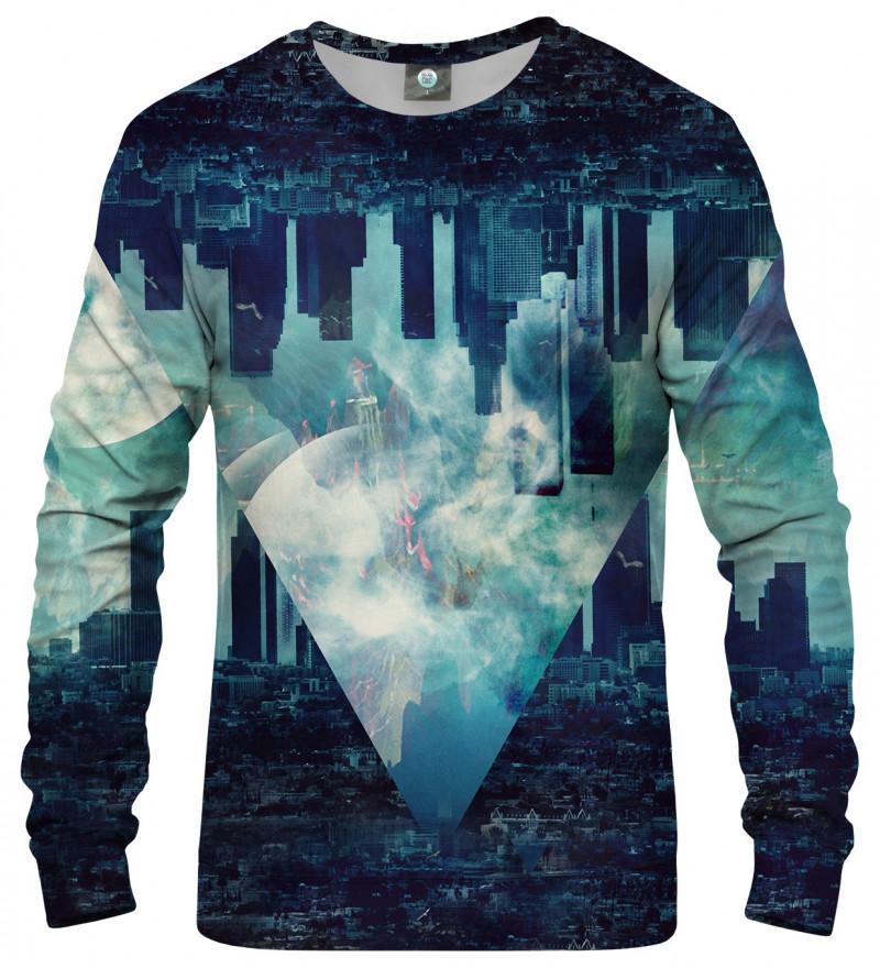 blue sweatshirt with city motive