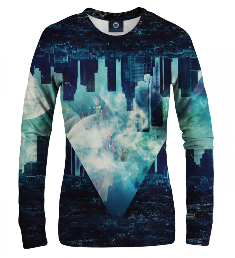 women sweatshirt with city motive