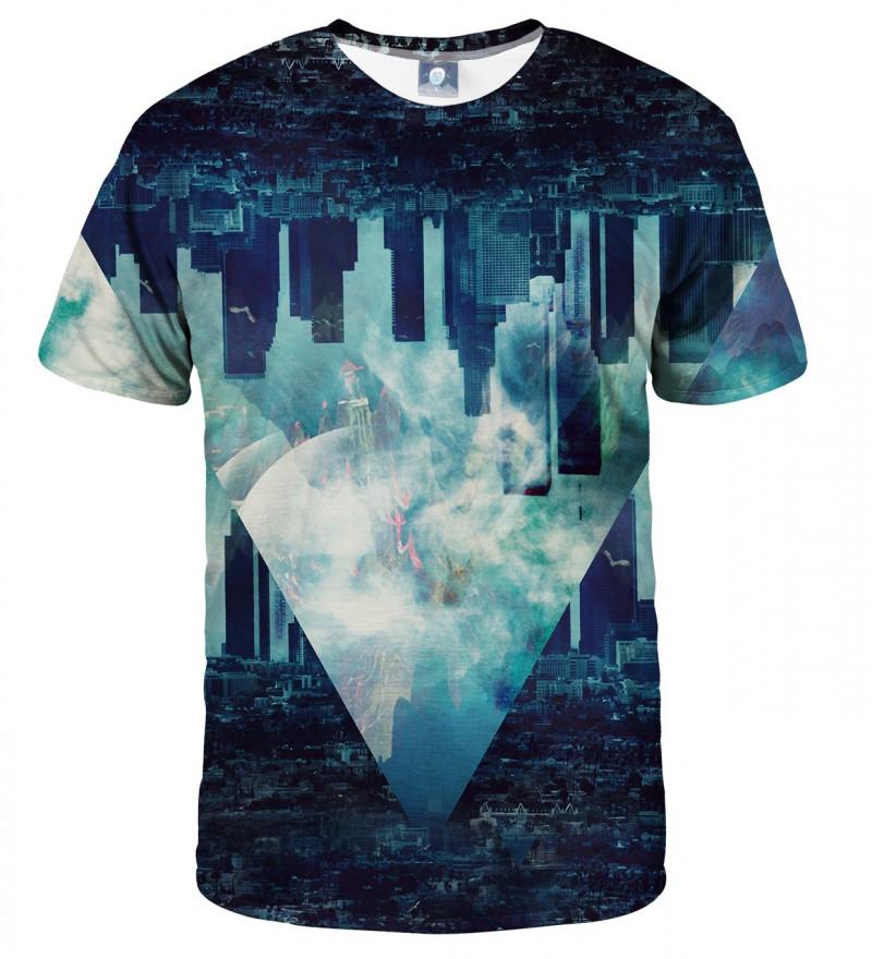 blue tshirt with city motive
