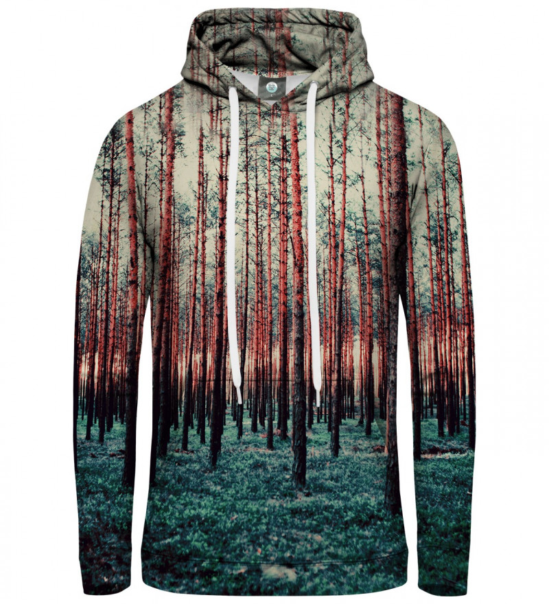 women hoodie with forest motive