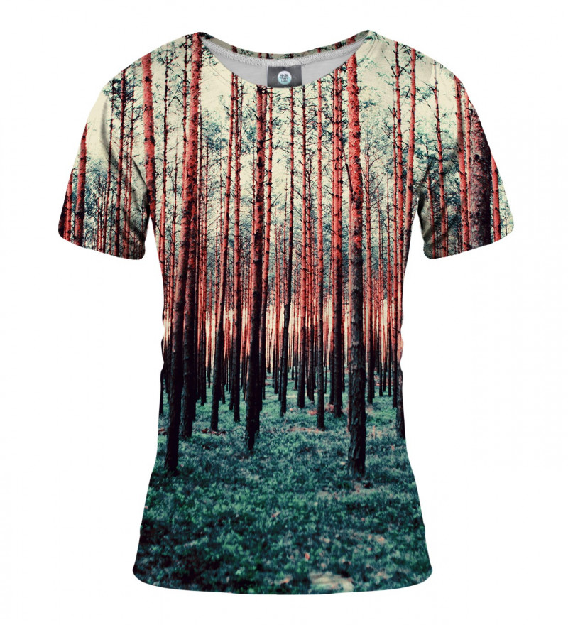 damska koszulka z motywem lasu