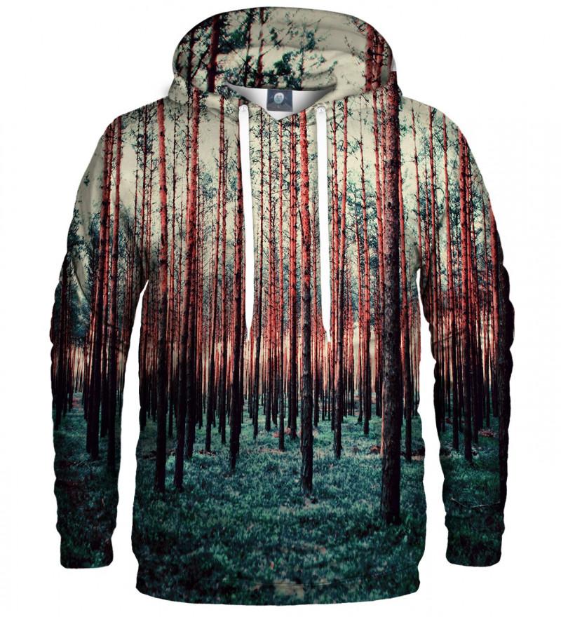 bluza z kapturem z motywem lasu