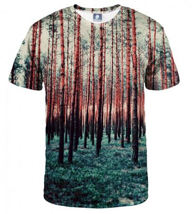 koszulka z motywem lasu