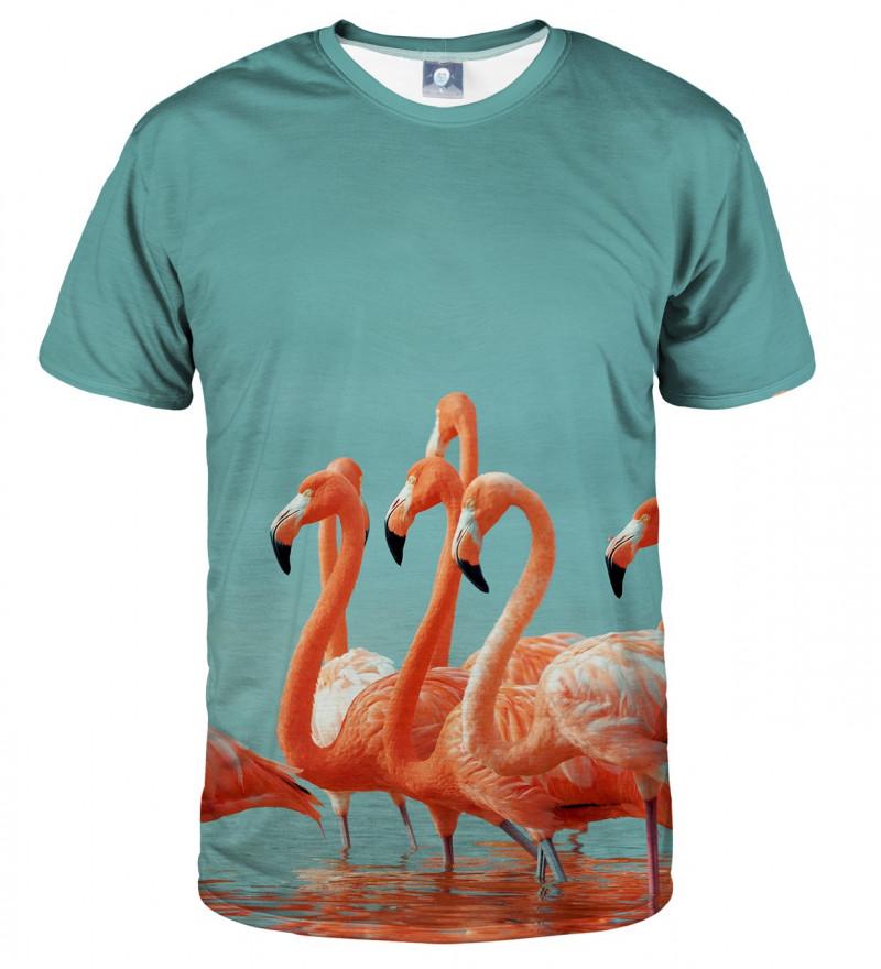 tshirt with flamingos motive