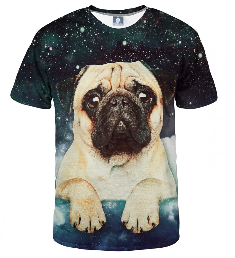 tshirt with cute dog and stars motive