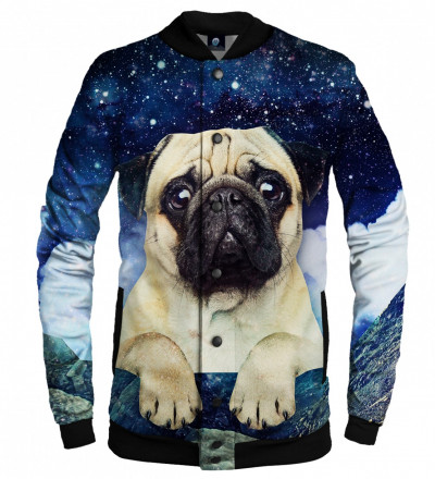 baseball jacket with cute dog and stars
