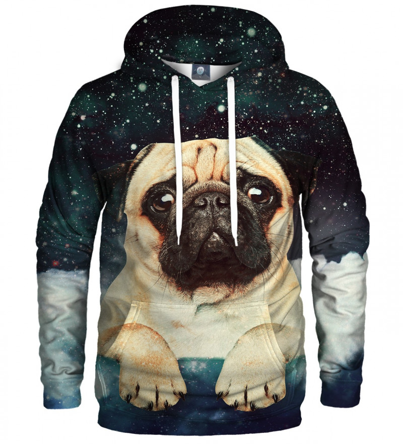 hoodie with cute dog and stars motive