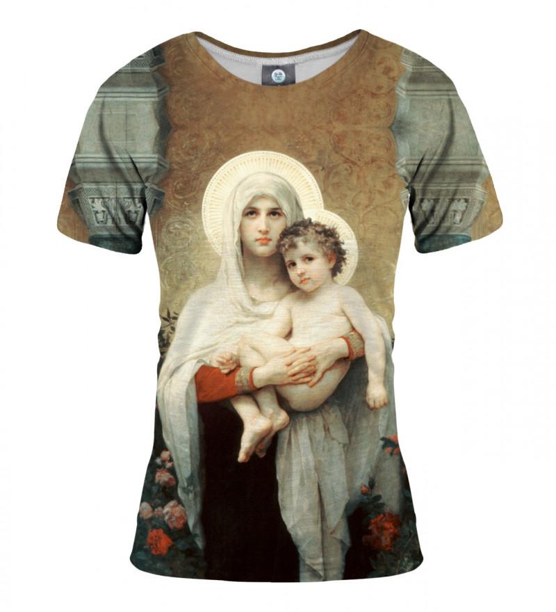 tshirt with saint marry motive