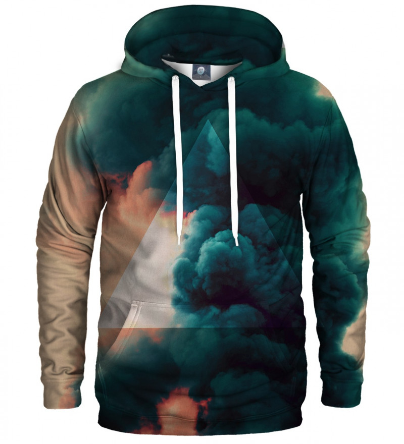 hoodie with clouds motive