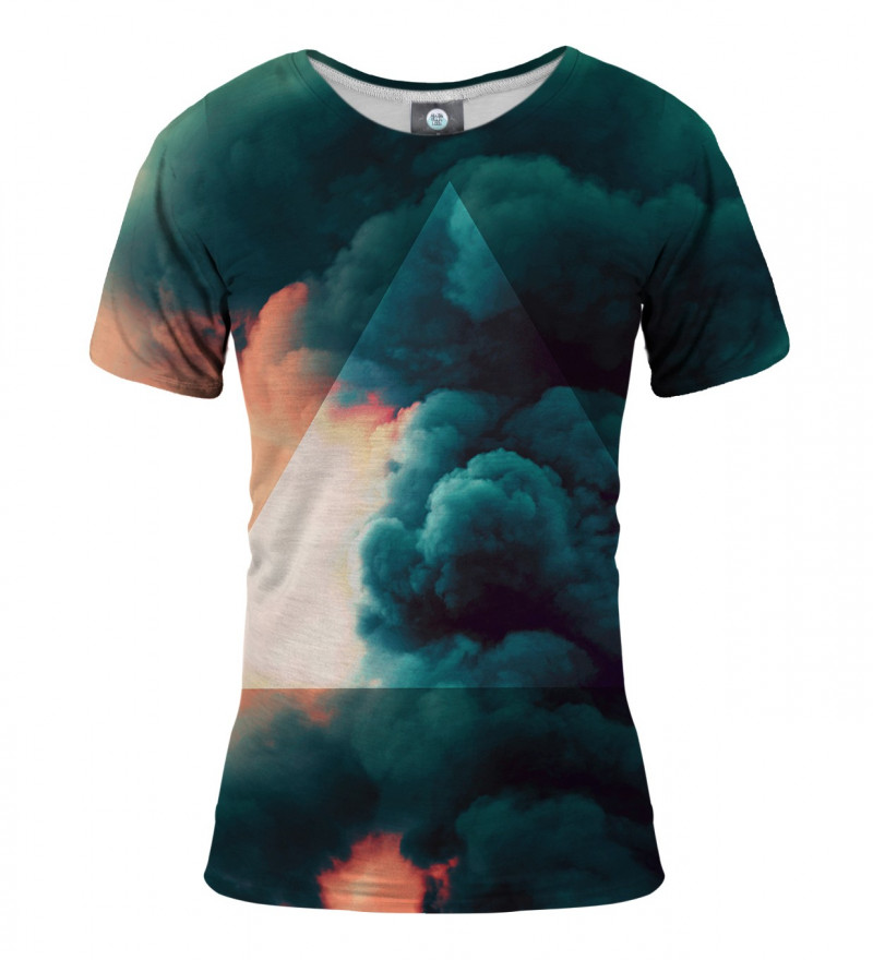 women tshirt with clouds motive