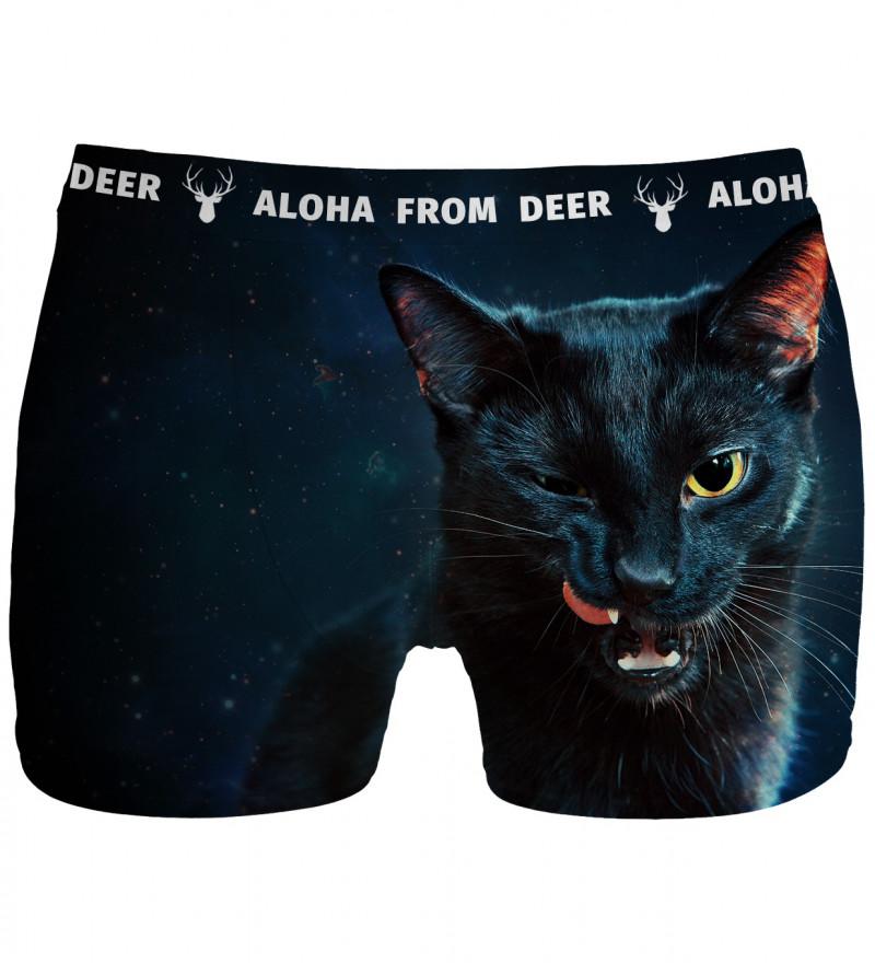 underwear with black cat