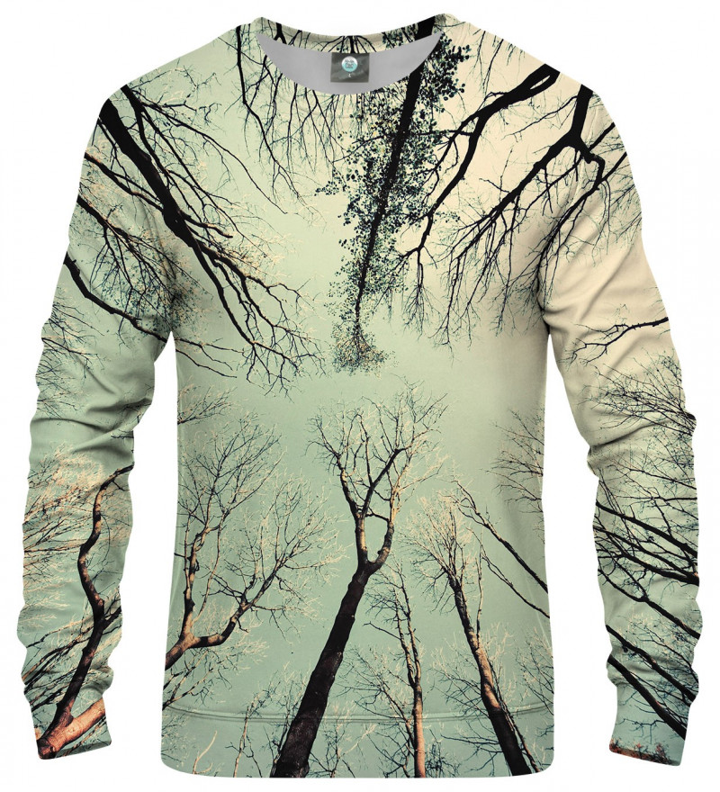 sweatshirt with branches motive