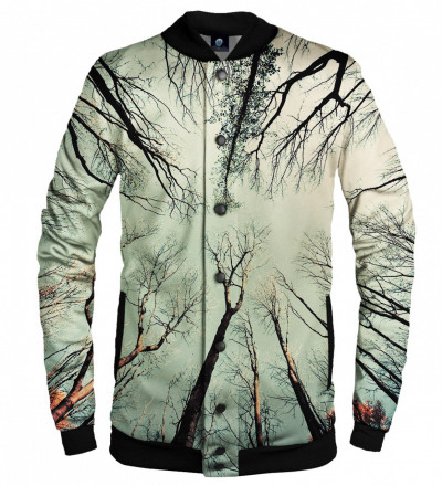 baseball jacket with branches motive