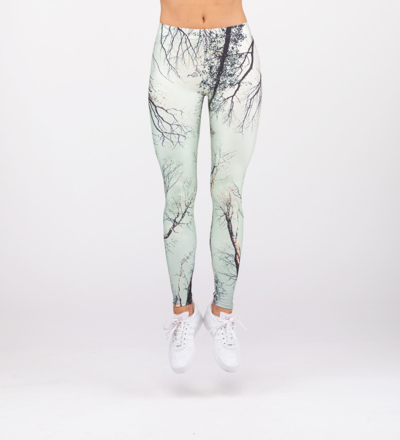 leggings with branches motive