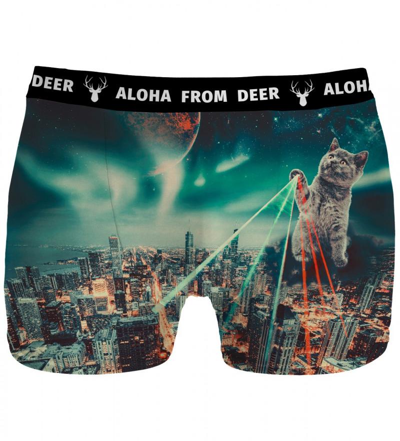 underwear with evil cat motive