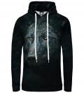 black hoodie with wolf motive