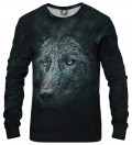 black sweatshirt with wolf motive