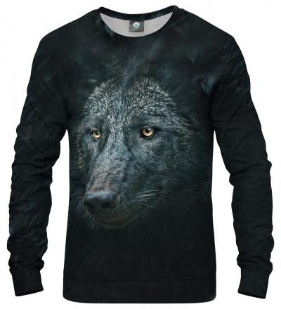czarna bluza z motywem wilka