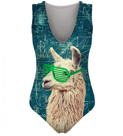 swimsuit with lama motive