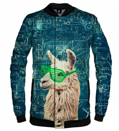 baseball jacket with lama motive