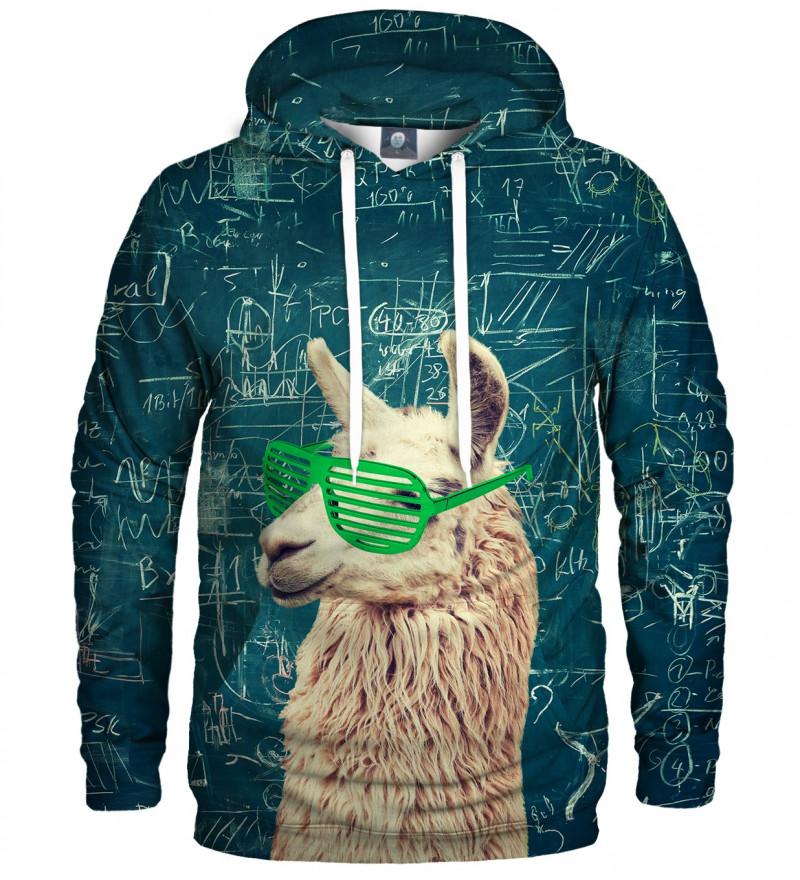 bluza z kapturem z motywem lamy