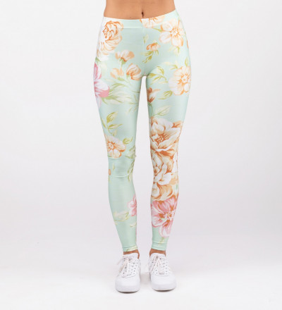 leggings with flowers motive