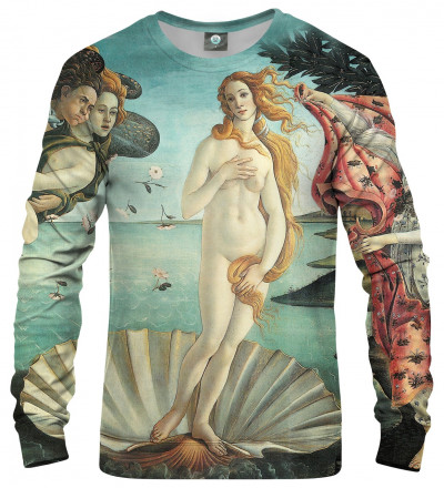 "sweatshirt with ""birth of venus"" motive"