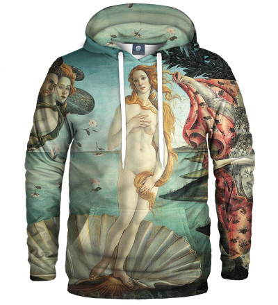 "hoodie with ""birth of venus"" motive"