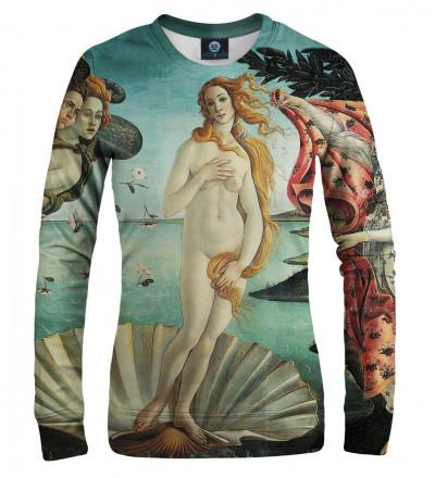"women sweatshirt with ""birth of venus"" motive"