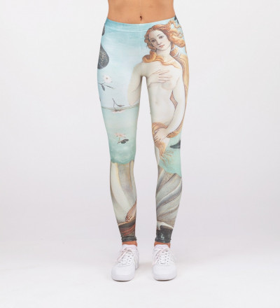 "leggings with ""bith of venus"" motive"