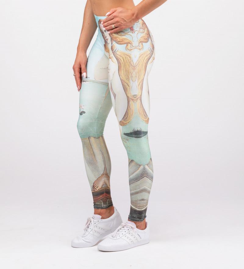 "leggings with ""bith of venus"" motive"