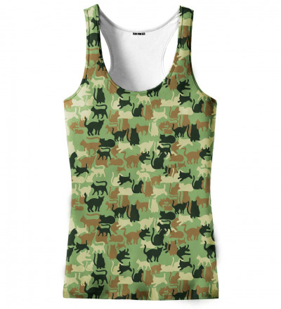 tank top with cats motive