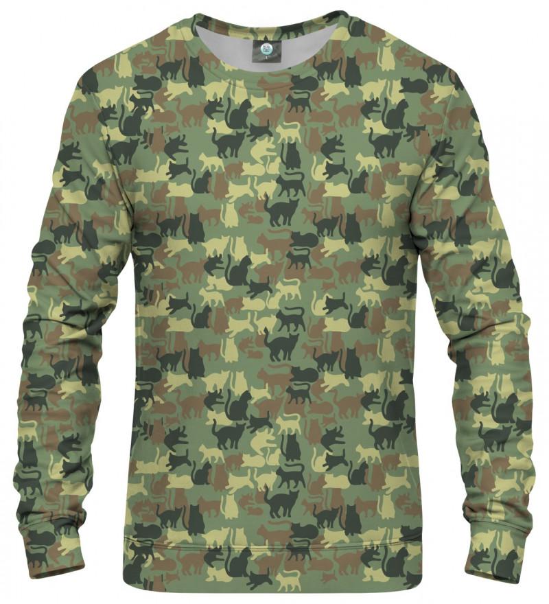 sweatshirt with cats motive