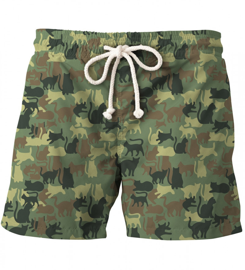 shorts with cats motive