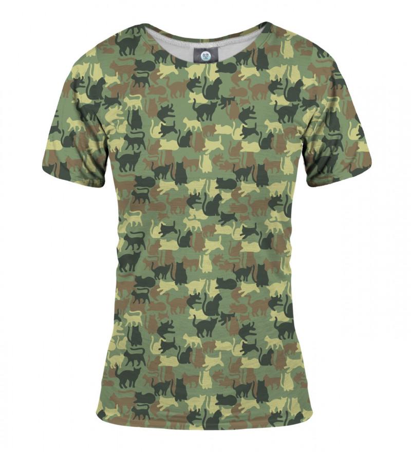 damska koszulka z motywem kotów