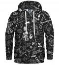 black hoodie with doodle motive